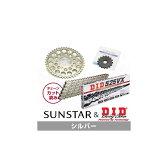 【セール特価!】SUNSTAR サンスター フロント・リアスプロケット&チェーン・カシメジョイントセット チェーン銘柄:DID製SS525VX(シルバーチェーン) CB750