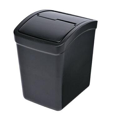 CARMATE カーメイト トランポ用品 重り付ごみ箱L フタ付 BK