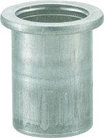 トラスコ中山工業用品TRUSCOクリンプナット平頭アルミ板厚1.5M4X0.71000入