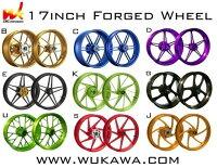 WUKAWAホイール本体AluminumForgedWheelType-Cカラー:PurpleYZF-R104-09