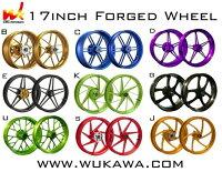 WUKAWAホイール本体AluminumForgedWheelType-Kカラー:PurpleVTR1000SP00-06
