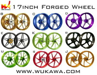 WUKAWAホイール本体AluminumForgedWheelType-Bカラー:BLUESV1000S03-06