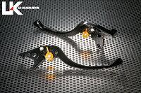 U-KANAYAツーリングタイプアルミビレットレバーセットアジャスターカラー:オレンジレバーカラー:ブラックDAYTONA955i[デイトナ]97-03
