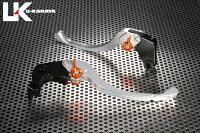 U-KANAYAツーリングタイプアルミビレットレバーセットアジャスターカラー:オレンジレバーカラー:シルバーGSX-R100005-06