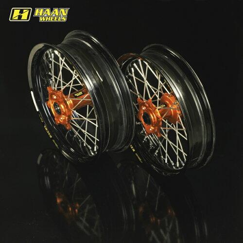 HAAN WHEELS ハーンホイール ホイール本体 フロント・リアモタードコンプリートホイール F3.50-R4....