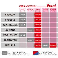 【在庫あり】DRCフロントフォークスプリングKLX125KLX150