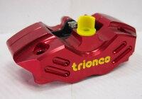 TrionesトライオンズCNCラジアルマウント4ピストンキャリパーカラー:RED