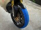RidingHouseライディングハウスタイヤ関連工具【RISE】タイヤ保護カバー/まもる君12inc用カラー:ブルー/ブラック
