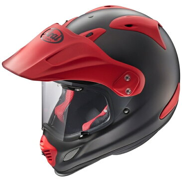 Arai アライ オフロードヘルメット TOUR-CROSS3 [ツアークロス3 ブラック/レッド] ヘルメット サイズ:M(57-58cm)