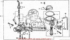 CMS シーエムエス キャブレター (16100-GBJ-020) CARBURETOR ASSY (JDM) C50CM 1993 (P) JAPAN
