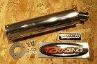 T2RacingT2レーシングバッフル・消音装置ロングフルステンレスサイレンサー(逆三角形)ステッカータイプ:楕円タイプ
