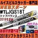 2018ルイスビル カタリスト2 TI ソフトボール バット3号ゴムトップ【おまけ付】WTLJGS18T(JGS17T後継)