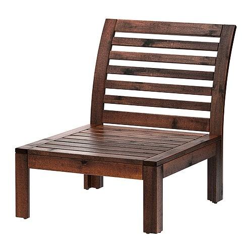 【IKEA/イケア/通販】 ÄPPLARÖ エップラロー 1人掛けソファ 屋外用, ブラウン ブラウンステイン(40205189)