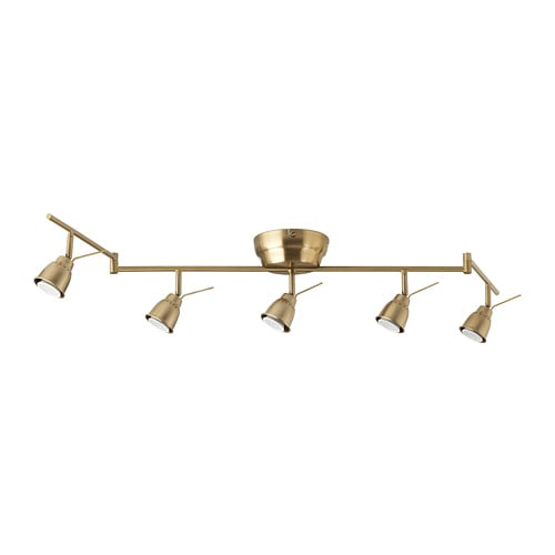 【IKEA/イケア/通販】 BAROMETER バロメーテル シーリングトラック スポットライト5個, 黄銅色(d)(10364641)