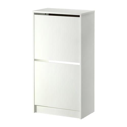 【期間限定】【IKEA/イケア/通販】 BISSA ビッサ 靴収納用キャビネット 2コンパートメント, ホワイト(d)(30242738)の写真