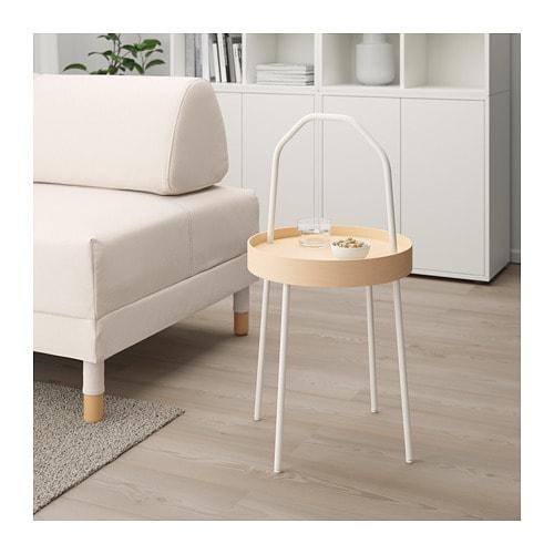 【IKEA/イケア/通販】 BURVIK ブールヴィーク サイドテーブル, ホワイト(d)(20340391)の写真