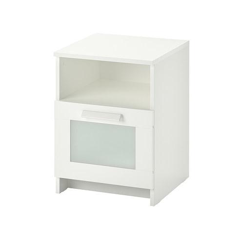 【期間限定】【IKEA/イケア/通販】 BRIMNES ブリムネス ベッドサイドテーブル, ホワイト(d)(00354063)の写真