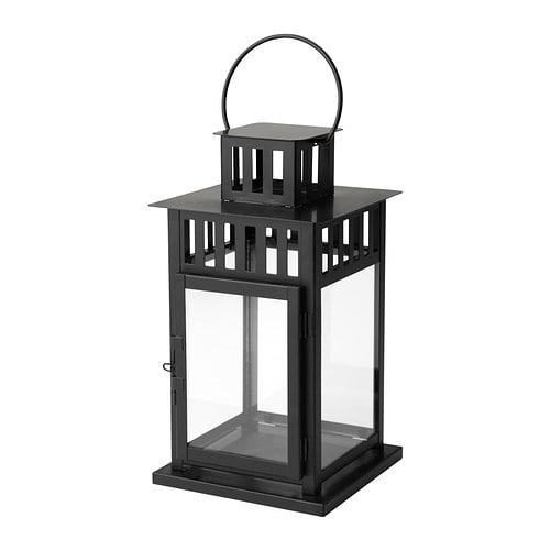 【IKEA/イケア/通販】 BORRBY ボッルビー ブロックキャンドル用ランタン, ブラック 室内/屋外用 ブラック(c)(50156112)