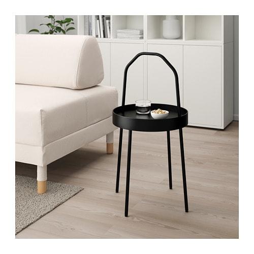 【IKEA/イケア/通販】 BURVIK ブールヴィーク サイドテーブル, ブラック(c)(00340387)