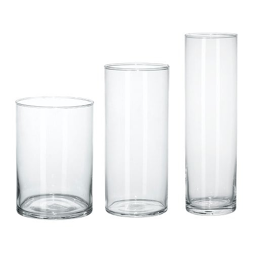 【IKEA/イケア/通販】 CYLINDER シリンデル 花瓶3点セット, クリアガラス(c)(60175214)