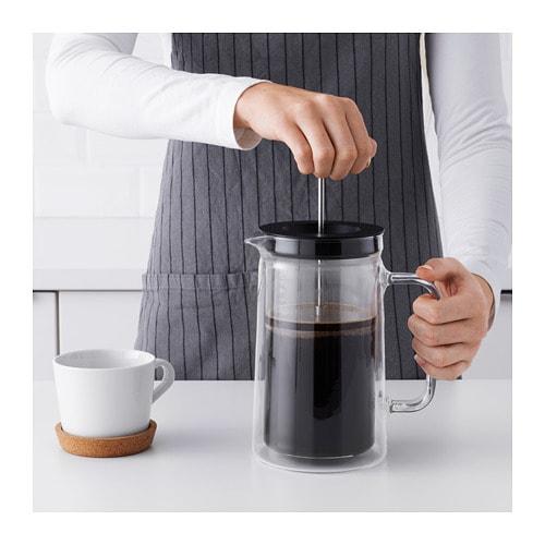 【IKEA/イケア/通販】EGENTLIGエーゲントリグコーヒー/ティーメーカー,ダブルウォール,クリアガラス(e)(50358978)