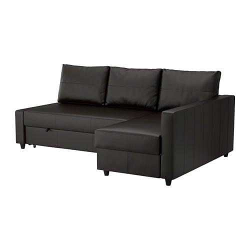 【IKEA/イケア/通販】 FRIHETEN フリーヘーテン コーナーソファベッド 収納付き, ボームスタード ブラック(a)(S29216820)【代引不可商品】