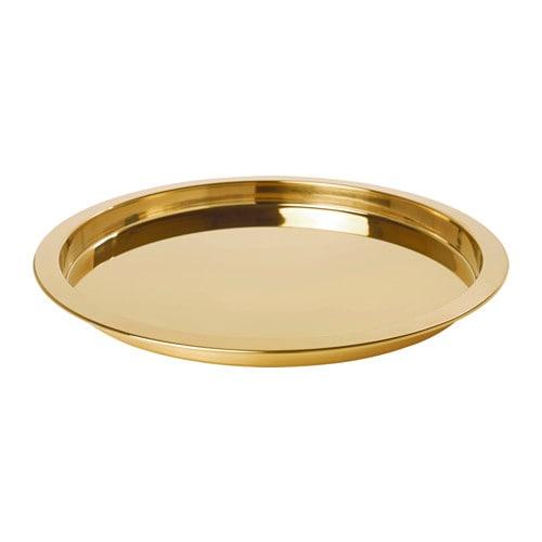 【IKEA/イケア/通販】 GLATTIS グラッティス トレイ, 黄銅色(c)(50350114)