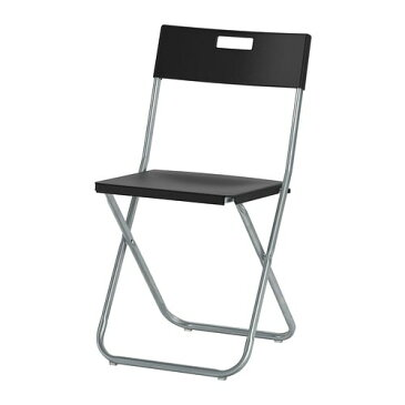 【IKEA/イケア/通販】 GUNDE グンデ 折りたたみチェア, ブラック(c)(80217798)