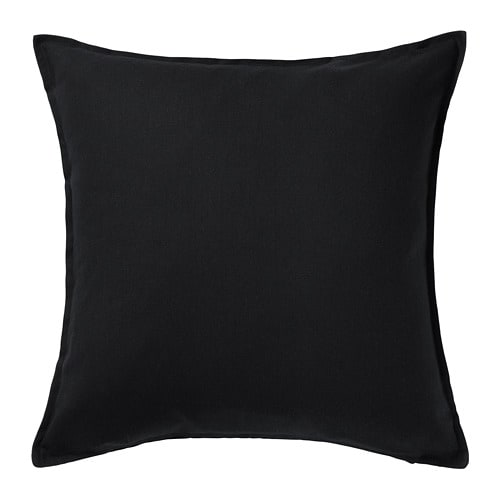 【IKEA/イケア/通販】 GURLI グルリ クッションカバー(※カバーのみの商品です), ブラック(c)(60281139)