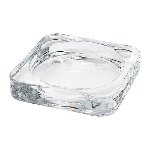 【IKEA/イケア/通販】 GLASIG グラーシグ キャンドル皿, クリアガラス(c)(90290137)の写真