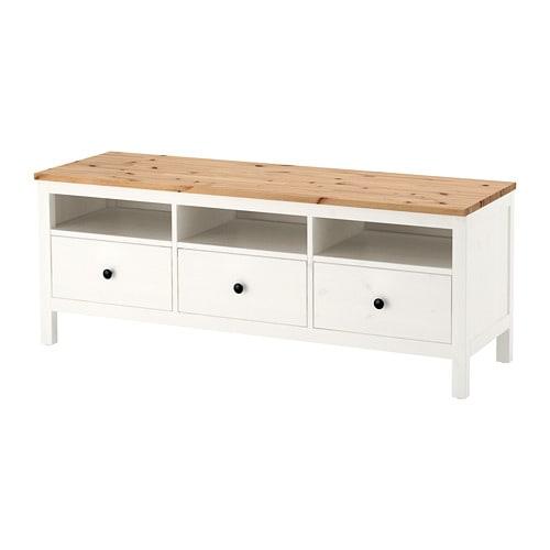 【IKEA/イケア/通販】 HEMNES ヘムネス テレビ台, ホワイトステイン, ライトブラウン(a)(30413527)【代引不可商品】