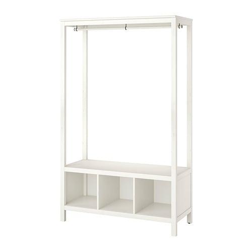【IKEA/イケア/通販】HEMNESヘムネスオープンワードローブ,ホワイトステイン(a)(20379618)【代引不可商品】