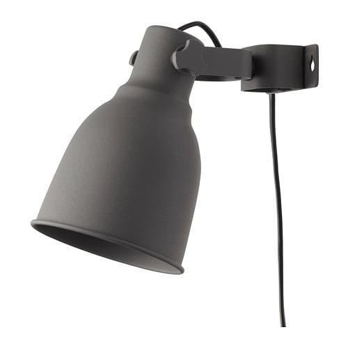 【IKEA/イケア/通販】 HEKTAR ヘクタル ウォール/クリップ式 スポットライト, ダークグレー(e)(90216538)