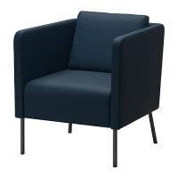 【IKEA/イケア】EKEROアームチェア,スキフテボーダークブルー
