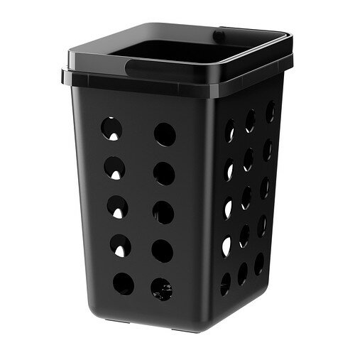 【IKEA/イケア/通販】 VARIERA 分別ゴミ箱 通気孔付き, ブラック(c)(20271222)