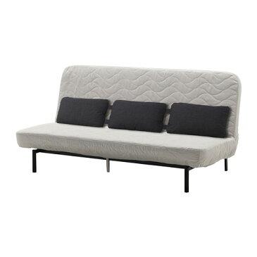 【IKEA/イケア/通販】 NYHAMN ニーハムン ソファベッド トリプルクッション付き, フォームマットレス, ボッレド ライトベージュ(a)(S99247677)