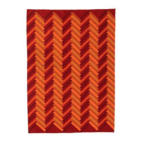 【IKEA/イケア/通販】 STOCKHOLM 2017 ラグ 平織り, 手織り ジグザグ模様, オレンジ ジグザグ模様 オレンジ(d)(30345350):WEBYセレクション