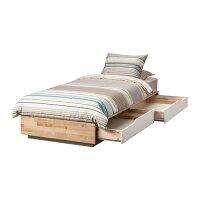 【IKEA/イケア】MANDALベッドフレーム収納付き,バーチ,ホワイト(60244608)