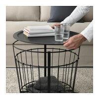 【IKEA/イケア】GUALÖV収納テーブル,ブラック(50340380)