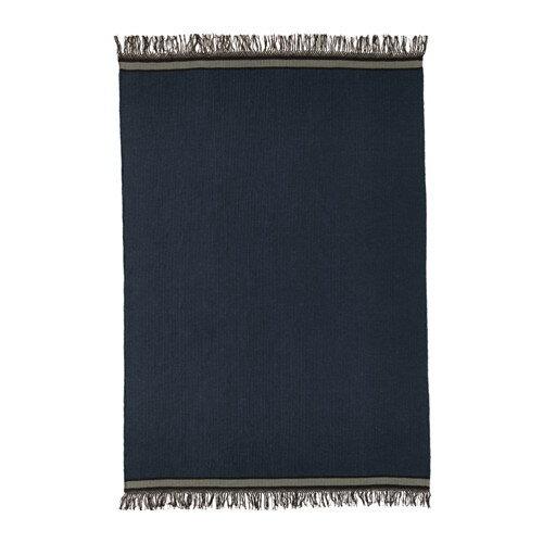 【IKEA/イケア/通販】 STOCKHOLM 2017 ラグ 平織り, 手織り ブルー, ブルー(a)(70345348):WEBYセレクション