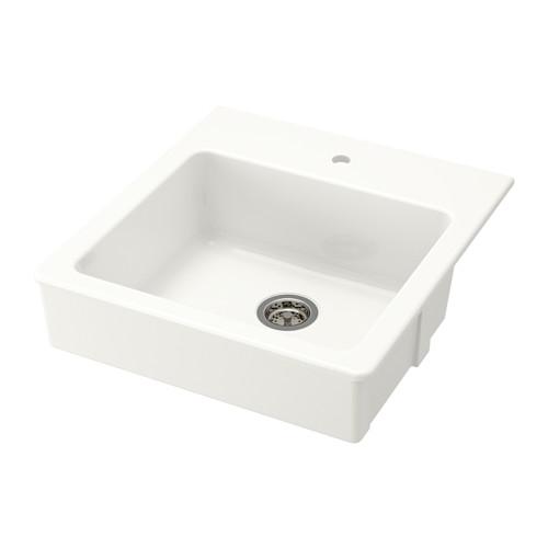 【IKEA/イケア/通販】 DOMSJÖ 据え置き型シンク、1ボウル, ホワイト(S59158183):WEBYセレクション