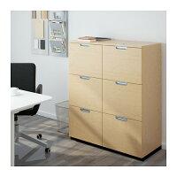 【IKEA/イケア】GALANT収納コンビネーションファイルキャビネット付き,バーチ材突き板(S49184583)