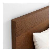 【IKEA/イケア】MALMベッドフレーム(高め),ブラウンステインアッシュ材突き板,ロンセット(S99157054)