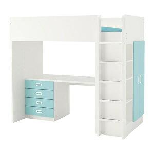 【IKEA/イケア/通販】 STUVA ストゥヴァ / FRITIDS フリーティズ ロフトベッドフレーム(※マットレスなど別売りの商品がございます。ご注意ください) デスク&収納付き(引き出し×4/扉×2
