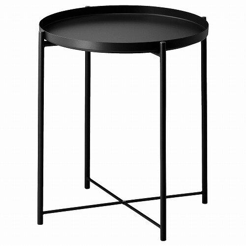 【IKEA/イケア/通販】 GLADOM グラドム トレイテーブル, ブラック(c)(00411997)