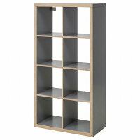 【期間限定】【IKEA/イケア/通販】KALLAXカラックスシェルフユニット,グレー,木目調(d)(10346925)
