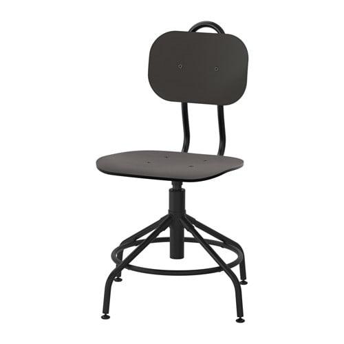 【期間限定】【IKEA/イケア/通販】 KULLABERG クッラベリ 回転チェア, ブラック(d)(70325519)の写真