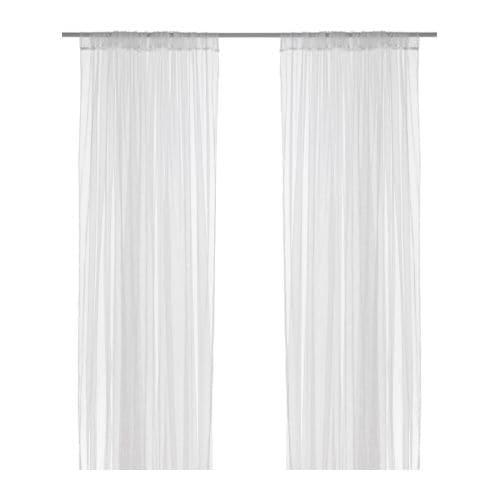 【IKEA/イケア/通販】 LILL リル ネットカーテン1組, ホワイト(b)(70171927)