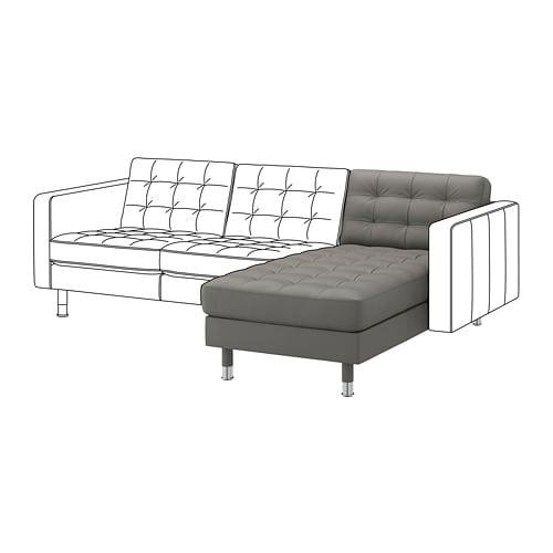 【IKEA/イケア/通販】 LANDSKRONA ランズクローナ 追加用寝椅子, グラン/ボームスタード グレーグリーン/メタル(a)(S59275733)【代引不可商品】