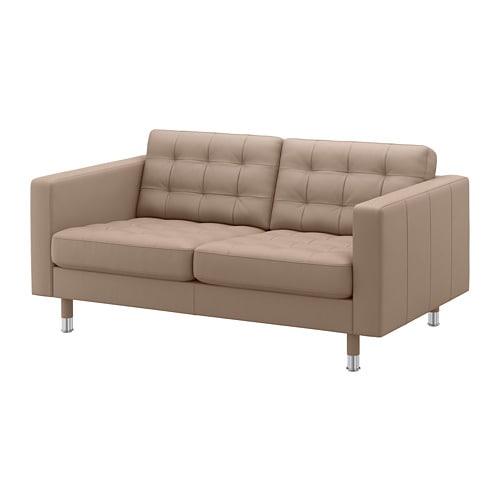 【IKEA/イケア/通販】 LANDSKRONA ランズクローナ 2人掛けソファ, グラン/ボームスタード ダークベージュ/メタル(a)(S29275758)【代引不可商品】